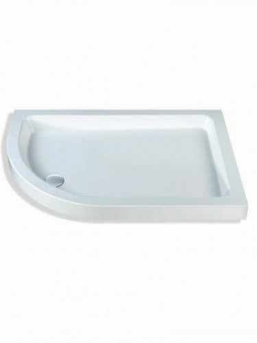 MX OFFSET QUAD SHOWER TRAY 900X750MM LEFT HAND INCLUDING WASTE